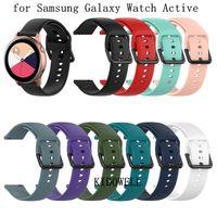 20 мм силиконовый ремешок для часов для Samsung Galaxy Watch Active R500 42 мм Gear S2 Sport Huami Amazfit BIP Ticwatch 2 сменный браслет ремешок ремешок