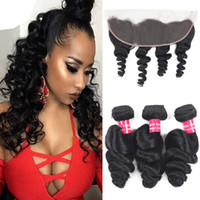 Loose Wave Brazilian Hair 3 Bundles With 13x4 Ear To Ear Lac...