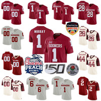 Oklahoma Sooners Calcio Maglie Bambini Gioventù Jalen Hurts Jersey Kyler Murray Baker Mayfield Adrian Peterson Brian Bosworth personalizzato cucito