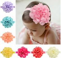 Color Mix Bébés filles Bandeaux style bande cheveux enfants tête Bands filles Mode Grand Accessoires élastique Fleur A175