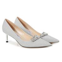 Silver rhinestone stiletto heel wedding shoes bridal pumps pointed toe 6cm 8cm heel lady pumps size 35-41