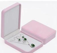 17x12x4cm bijoux de velours Set boîte collier collier cadeau pour la bijouterie ensemble stockage stockage livraison gratuite plus de couleur pour le choix