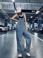 WMYJSF Yeni gevşek moda düz tüp açık renk 100 gündelik yüksek belli geniş bacaklı kot pantolon kız