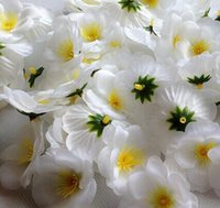 300pcs 6cm 도매 인공 실크 복숭아 꽃 매화 벚꽃 DIY 꽃 춤 소품