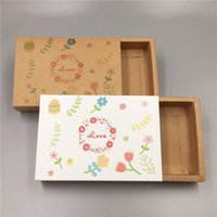 20Pcs / Lot vier Stile handgemachter buntes Druckpapier Schubbox Happy Family Animal Party-Herz-Packpapier-Pull Push-Box