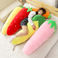 Kawaii zanahoria desmontable almohada gigante juguete de peluche fresa maíz fruta dormir abrazo largo almohada chica muñeca regalo 47 pulgadas 120 cm DY50635