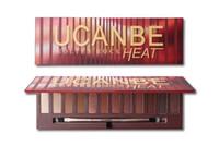 Высокое качество Ucanbe 12 цветов тени для глаз матовый коричневый блеск глаз-тень макияж палитра мерцание порошок дымчатый тени для век с кистью