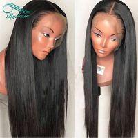 360 encaje frente pelucas de cabello humano brasileño virgen pelo sedoso recto pre-plucked nudos blanqueados cabello humano 360 pelucas de encaje con pelos de bebé