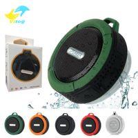 Vitog C6 Potable sans fil Bluetooth haut-parleur étanche Douche Haut-parleur Lecteur Bult en stéréo Lecteur de musique Mousqueton ventouse avec le paquet