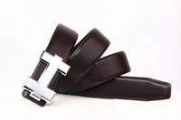 Marchio di moda con cintura in vera pelle maschile Designer Designer di alta qualità H Smooth Buckle Mens Cinture per le donne Cintura di lusso Spedizione gratuita