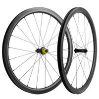 وزوج الدراجات الكربون العجلات 40MM UD ماتي مع UD الفرامل السطح عجلات الكربون عجلات الدراجة الطريق الأسود R7 محور السيراميك 25MM العجلات