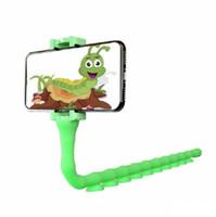 Gummi Netter Wurm fauler Handy-Halter 360 Umdrehung Flexible lange Arm-Telefon-Halter Stativ Schreibtisch Bett und faule Halter Ständer Selfie Clip