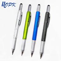 Creative Noved Multifuncional Metal Ballpoint Pen Destornillador Ballpen School Office Touch Pantalla Touch Pen para hombres Gadgets Regalo
