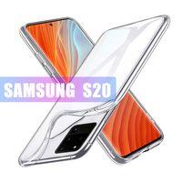 Soft TPU Custodia trasparente per iPhone 12 11 Pro Max Samsung Nota 20 Ultra S20 Nota 10 1.0mm Spessore trasparente Custodia morbida trasparente Custodia posteriore