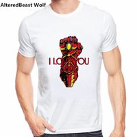 Men' s I Love You 3000 Thanks Tony Iron Man T Shirts Mar...