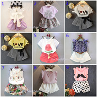 New 30 styles Baby girls fashion INS sets 2019 Children summ...