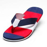 Wholesale 2019 de verano para hombres zapatillas Sandalias zapatillas de playa tacón plano cómodos zapatillas de moda hombres flip flops plus size 39- 45