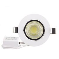 AC200V Dimmable LED Downlight 6W COB LED Encastré Plafonnier Spot Luminaire LED Down Lumière Chaud Blanc / Blanc Froid