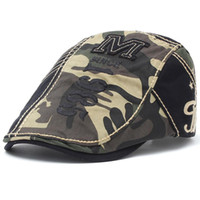 Boné de algodão Duckbill Hat Newsboy Ivy Cabbie Drving Hat Caça Golf Homens Mulheres ajustável Gatsby Moda Camouflage 1985 Bordados 12490