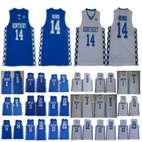 NCAA Kentucky Wildkatzen Tyler Herro Jersey # 14 Booker Wall Towns Vetter Davis Devin John Karl-Anthony DeMarcus Anthony Fox-Mönch-Trikots