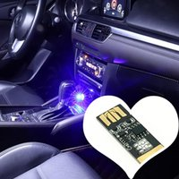 Atmosphère de voiture LED avec prise USB Touch et contrôle de la carton lumineuses de la voiture et contrôle du son RVB Musique Rhythm Light Lampe décorative