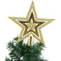 Christmas Tree Top Étincelle Etoiles Accrocher Décoration de Noël Ornement arboricole Topper Fournitures de Noël Sapin de Noël Décor