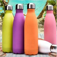 500ml cola garrafa de aço inoxidável garrafa de vácuo com tampa personalização design de parede duplicada canal de água canecas copos de copo