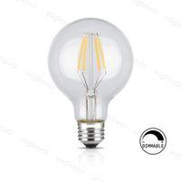 LED Ampuller G80 Dim Filament Mum Işık 4 W 6 W 8 W E27 Edison Retro Enerji Tasarrufu Kristal Avizeler için Kolye Kat Masa Işıkları DHL