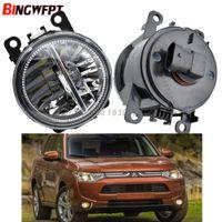 2 teile / pair High Hell Auto Styling Runde Stoßstange 12V H11 LED Nebelscheinwerfer Halogenlampen für Mitsubishi Outlander 2012-2017