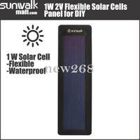 Freeshipping 5 قطع عالية الجودة 0.5 واط 2 فولت مرنة الخلايا الشمسية غير متبلور السليكون طوي سليم جدا لوحة diy شاحن للطاقة الشمسية