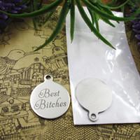 """40pcs - """"Beste Bitches-"""" Edelstahl Reize mehr Stil für für Halskette DIY-Charme-Anhänger Auswahl"""