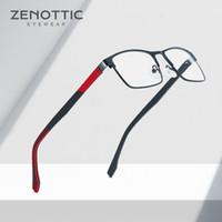 Zenottic Metal Glass Frame Men Square Prescripción Gafas de receta Full Rim Metal Glasses Opticales Mujeres Marcos Eyewear BT2102