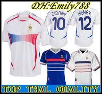 2006 Retro Soccer Jersey ZIDANE Henry Trezeguet Vieira Ribery 06 world cup France  Vintage 1998 FRANCES RETRO Football Shirts Maillot de Foot cd513b185