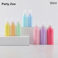 50 мл макарон цвет многоразового использования ПЭТ спрей бутылки 1.76 унций мини макияж контейнер путешествия пустой банку оптом
