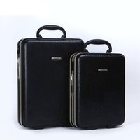 LeTrend Retro Frame alluminio Rolling Luggage Spinner password Valigia Ruote uomini Business Cabin bag per laptop
