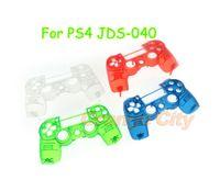 Transparente Matte Toque controlador Faceplate Frente Shell tampa superior capa para Playstation 4 PS4 PRO JDM 040 JDS 040 Limpar