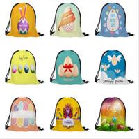 عيد الفصح الرباط حقائب تحمل على الظهر حقائب الأرنب الأرنب مضحك الأرنب البيض منظم الحقيبة طباعة رياضة حقيبة Daypack حقيبة عيد الفصح تخزين الكرتون حقائب B4280