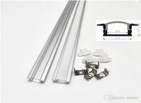 1m condotto profilato in alluminio per la luce barra led, canale alluminio striscia principale, alloggiamento di alluminio impermeabile latteo trasparente coperchio CRESTECH