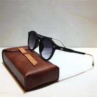 JAMES CROSTATA 225 Occhiali da Sole rotonda Per la moda unisex papaia piastra metallica Combinazione Trend stile all'avanguardia UV400 occhiali da sole lenti