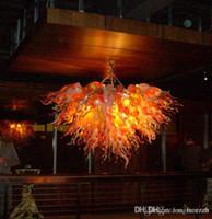 Nuovo stile Art Lampadario Luce del sole arancione Rattan Murao Glass Chandelier lampadine a LED in vetro soffiato lampadario luce Fixture