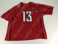 New Arrival. Cheap custom Rutgers Scarlet Knights Football Jersey Red Sewn  NCAA ... 3e4c75d97