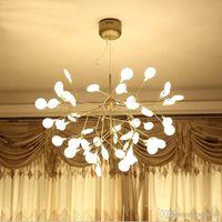 Новое прибытие Весна современные светодиодные люстры для столовой кухня бар AC85-265V железа розового золота люстра светильники