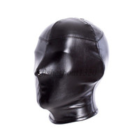 Bondage Leather Dog Puppy Red Tongue Full Head Roleplay Hood Cosplay Mask Head Harness A876