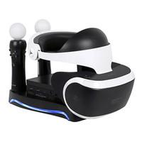 4 in1 PS VR 2. Generation Vertical Stand PS4 VR Brille Steckverbinder Speicher Kit Joystick-Ladestation mit Lichtern Kühl