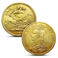 1887- 1900 Victoria Sovereign Coins 14PCS Set 38mm Small Gold...