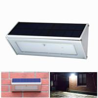 Großhandel Außenwandleuchte Sicherheit Solarlampe Mit Bewegungssensor Aluminiumlegierung Straßenveranda Licht lampada 48 LED 800LM Wasserdicht
