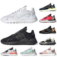 Adidas Nite jogger 3M reflectantes de las mujeres de los zapatos corrientes de Orange Seguridad Vial hielo menta zapatos deportivos zapatillas de deporte de los corredores