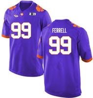 4b205a49e63 2019 Clemson Tigers Clelin Ferrell 99 escuela de fútbol cosida Jersey de  calidad superior envío gratis