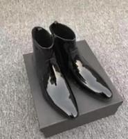 2019 أزياء نمط براءات الجلود التمهيد الذكور مرآة الجلود الجوارب منخفضة الكعب بارد بوينت تو موهير قوارب أحذية الزفاف الرجال