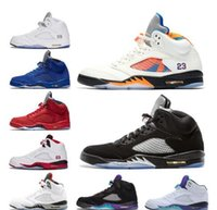 factory Outlet 5 V Mens White Cement Men 5S Basketball Shoes...